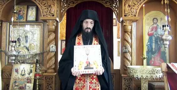 Священник призвал к расправе над художником за карикатуру на Поклонскую и царя (видео)