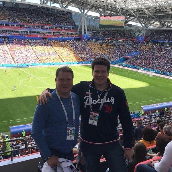 Боярский и Мацуев сорвали голос на матче Россия - Египет