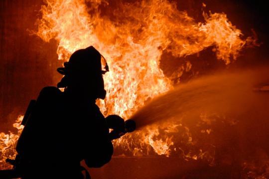 В Ангарске сгорел цех по производству пенопласта