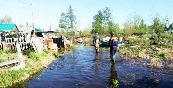 Вода уходит из затопленных сел Пенжинского района Камчатки