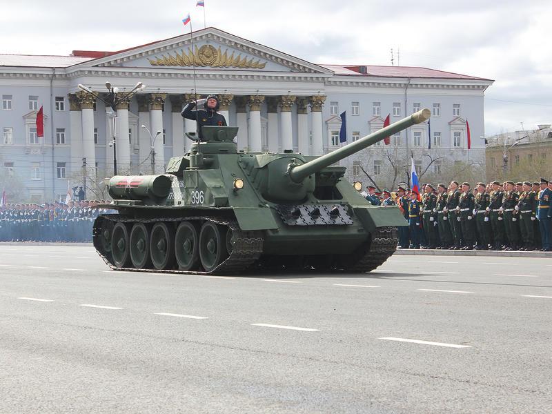 Парад Победы прошёл в Чите