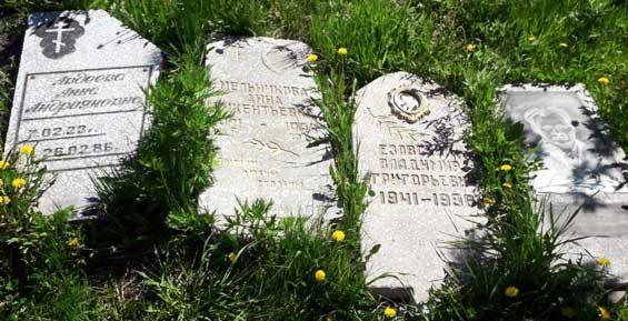 В роще на улице Маяковского в Петропавловске обнаружили могильные плиты