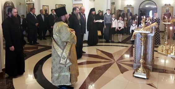 В свой день рождения Владимир Илюхин побывал в Морском соборе