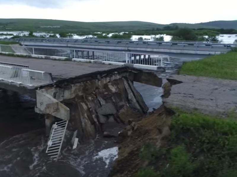 Видео наводнения в Шилке с квадрокоптера появилось в Сети