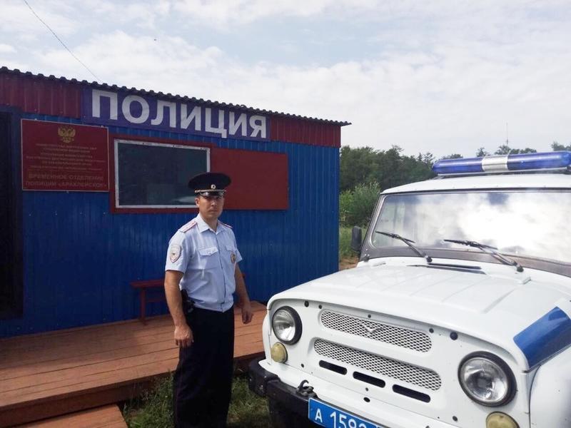 Полицейский помог спасти ребенка в Читинском районе