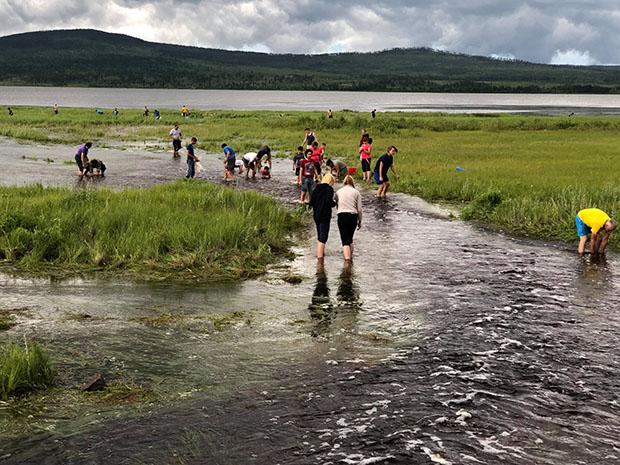 Массовую ловлю рыбы у озера Тасей засняли очевидцы