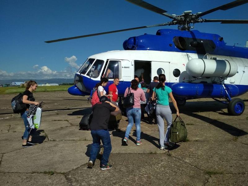 Вертолётом Росгвардии в сёла Тунгокоченского района доставят жителей и пенсии