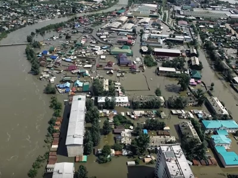 Видео с квадрокоптера затопленной Читы появилось в Сети