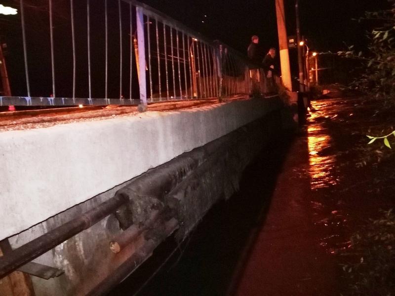 Читинка поднялась почти до уровня моста на Пожарке, где ходят троллейбусы