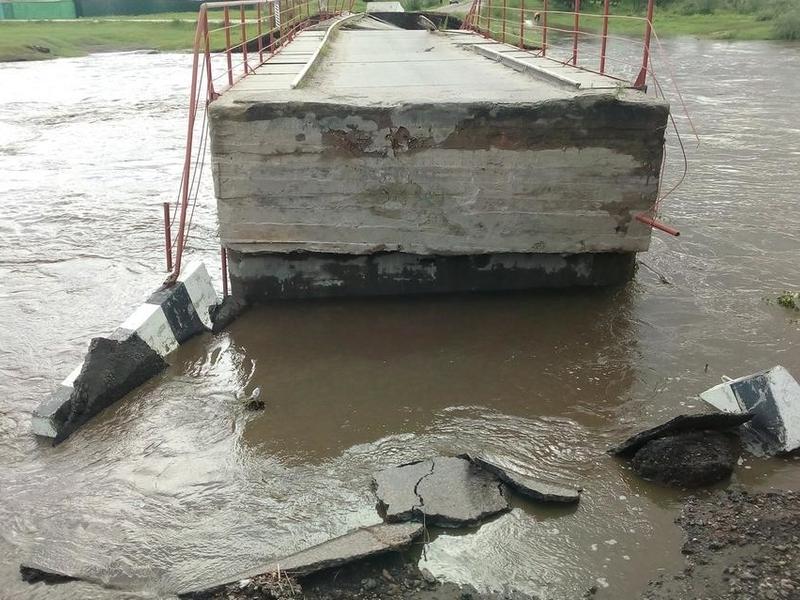 Количество поврежденных мостов в Забайкалье увеличилось