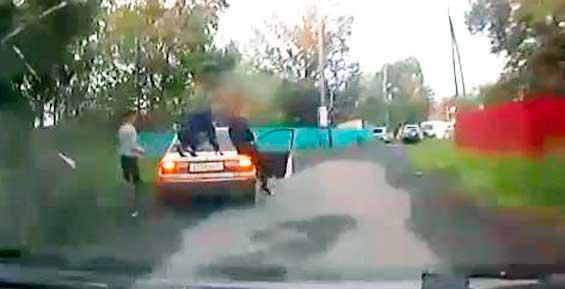 На Камчатке подростки катались на багажнике «Тойоты» приятеля