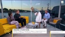 В Норвегии телеведущую стошнило прямо на гостя