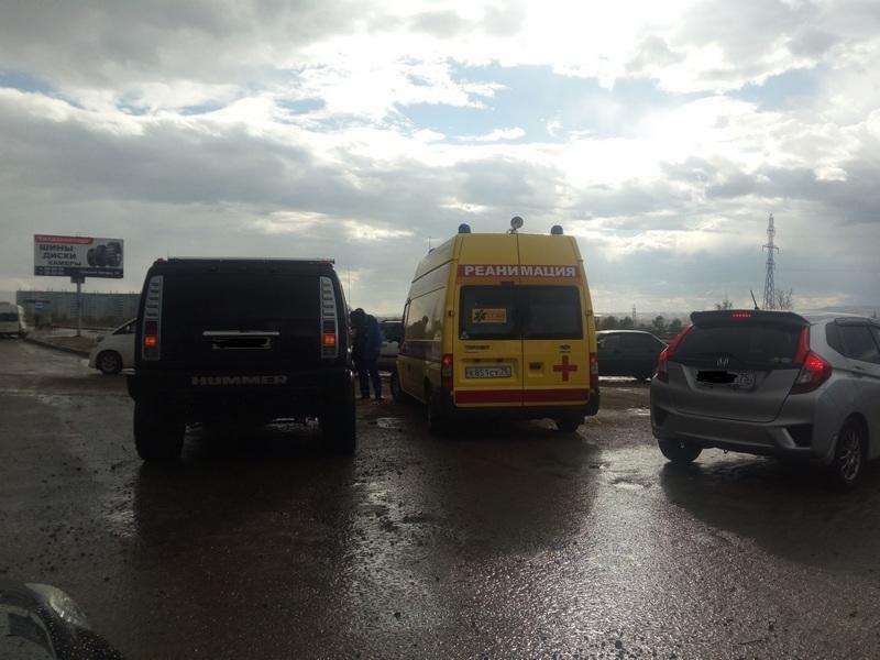 Один человек пострадал в ДТП с Hummer и Honda CR-V в Чите
