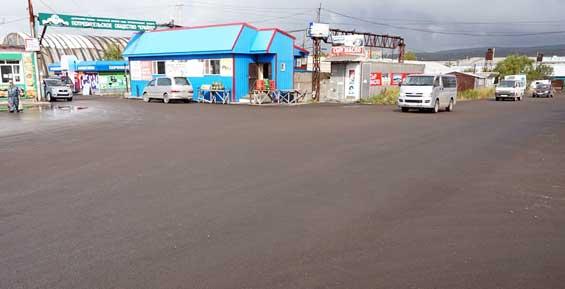 В Петропавловске за счет предпринимателей заасфальтировали базу на 9-м километре