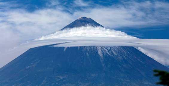 На Камчатке «позеленел» вулкан Ключевской
