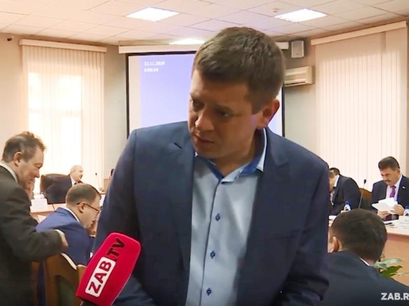Депутат и перевозчик Меняйло избегает несогласованных вопросов Заб.ТВ