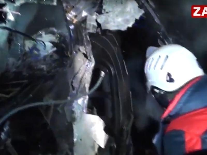 Заб.ТВ опубликовал кадры смертельного ДТП на трассе Чита-Хабаровск