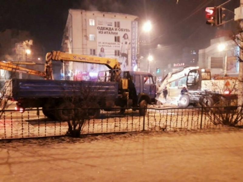 Из-за раскопок «ресурсников» перекрыто движение по одной полосе ул. Бабушкина - читинец