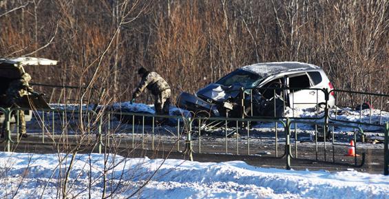 В Петропавловске при лобовом столкновении погибла женщина (фото, видео)