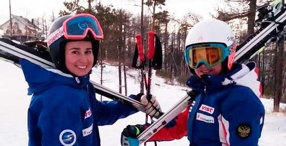 Камчатские горнолыжницы заняли первые места на этапе Кубка России